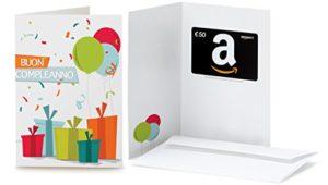 Buono regalo Amazon per biglietto auguri