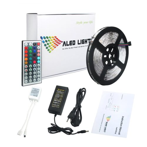ALED LIGHT® Striscia LED prezzo -10 Metri - 144W - SMD5050 RGB - 300 LED- 44 44 Key Telecomando