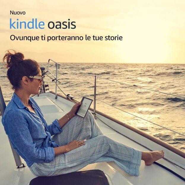 Recensione Nuovo e-Reader Kindle Oasis resistente all'acqua